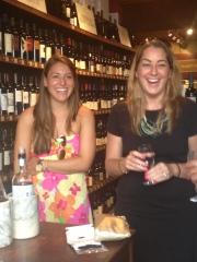 julie & brit wine tasting
